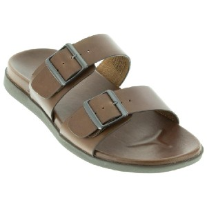 VIONIC Charlie Brown Leather - Best Sandals for Knee Pain: Built-In Orthotic Footbed