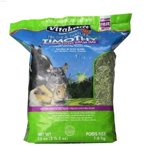 Vitakraft Timothy Sweet Grass Hay Small Animal Food - Best Hay for Baby Rabbit: Special for Fussy Rabbit