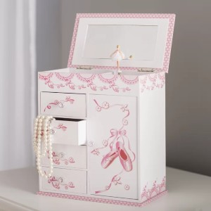 Viv + Rae Westman Ballerina Musical Jewelry Box with Door - Best Jewelry Boxes for Earrings: Cute Jewelry Box