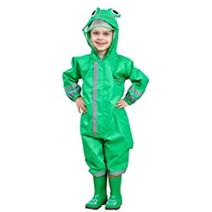 Vmonyco Kids One Piece Rainsuit Toddler - Best Raincoats for Toddlers: Equipped with transparent face shield