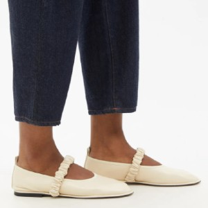 WANDLER Dash ruched leather Mary Jane flats - Best Dressy Flats: Sweet Flats