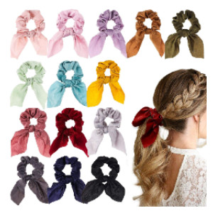 WATINC Bowknot Hair Scrunchies - Best Scrunchies on Amazon: Easily Wear On and Off