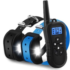 WDFZONE New 2020 Dog Training Collar with Remote - Best Dog Training Collar for Small Dogs: Quick Charging and Power Saving