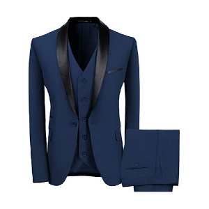 WEEN CHARM Men's Shawl Lapel 3-Pieces Suit - Best Party Dress for Man: Flaunt your personalities