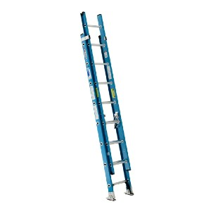 WERNER 16 ft. Fiberglass Extension Ladder - Best Extension Ladders for Home Use: Weather Resistant Construction