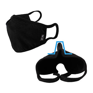 WITHMOONS Cotton Face Bandana Dustproof Facial UV  - Best Masks for Glasses Wearers: Handy Nose Wire