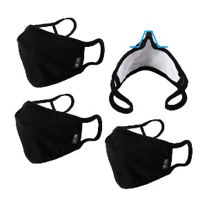WITHMOONS Black Nose Bridge EU0304 - Best Masks for Glasses Wearers: UV Rays and Dust Protection