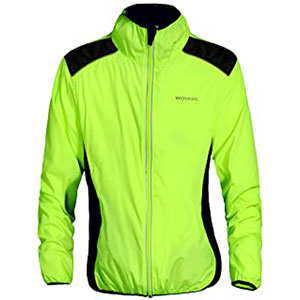 WOLFBIKE Running Cycling Jacket - Best Rain Jackets for Running: Elastic Construction Hem and Cuff