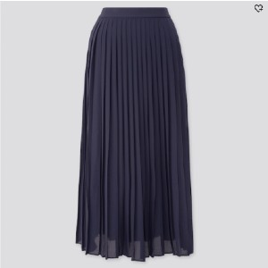 Uniqlo WOMEN CHIFFON PLEATED LONG SKIRT - Best Skirts for Pear Shape: Extremely Comfortable to Wear