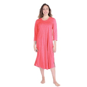 Cool-jams Women's Moisture Wicking Nightgown - Best Sleepwear for Menopause: Dries 4x faster than cotton