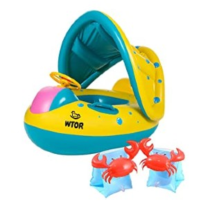 WTOR 3Pcs Swimming Ring Baby Water Floats  - Best Floats for Toddlers: Perfect for beginners