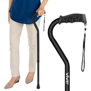 Vive Walking Cane - Best Cane for Arthritic Knees: Stable on uneven terrain