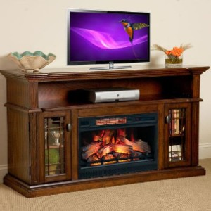 ChimneyFree Wallace Infrared Electric Fireplace  - Best Electric Fireplace TV Stand: Looks fantastic in any decor
