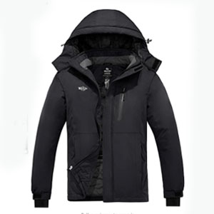 Wantdo Waterproof Windbreaker Warm Parka - Best Raincoats for Cold Weather: Stretchable glove with the thumb hole