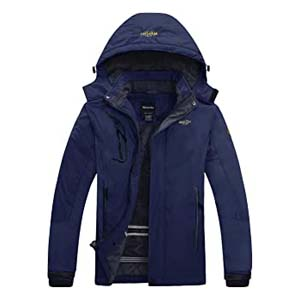 Wantdo Men's Ski Jacket Winter Anoark - Best Raincoats for Hiking: This one will keep you warm