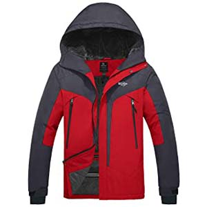 Wantdo Men's Windproof Ski Fleece Jacket - Best Raincoats for Cycling: Not bulky at all