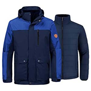 Wantdo Men's 3-in-1 Jacket Puff Liner - Best Raincoats for Iceland: Looks great, works great