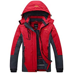 Wantdo Women's Mountain Ski Jacket Windproof Winter Coat - Best Raincoats for Iceland: Totally warm with no added layers