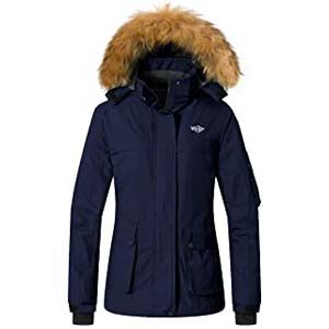 Wantdo Women's Ski Jacket Winter Snow Parka - Best Raincoats for Iceland: Works as a safeguard as well as fashion element