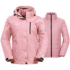 Wantdo Women's 3-in-1 Jacket Puff Liner - Best Raincoats for Iceland: Super duper warm