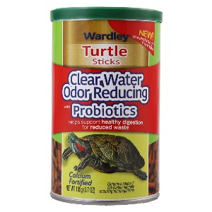 Wardley Clear Water Odor Reducing Probiotic Sticks Turtle Food - Best Turtle Food for Red-Eared Slider: Rich in Calcium and Probiotics