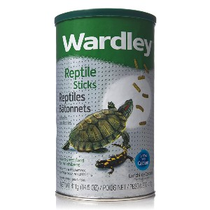 Wardley Premium Amphibian and Reptile Sticks - Best Turtle Food for Red-Eared Slider: Healthy Immune System