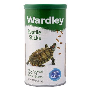 Wardley Premium Amphibian and Reptile Sticks - Best Aquatic Turtle Food: Great for Red-Eared Turtle