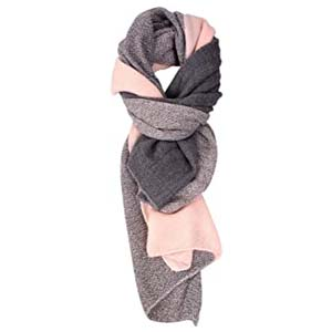 SPFAS Warm Cashmere Plaid Scarf - Best Scarves for Winter: Feminine but not childish