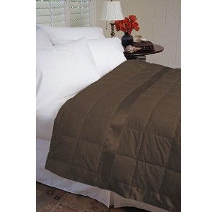 Warm Things Extra-Light Summer Weight Down Blanket Chocolate - Best Summer Blanket for Hot Sleepers: Lightweight and Breathable Blanket