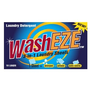 WashEZE All in One Laundry Sheets Scented  - Best Laundry Detergent Sheets: Sheet; Detergent, Softener, Static Guard