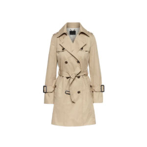 Banana Republic Water-Resistant Classic Trench Coat - Best Raincoats for Petites: Straight Through The Waist and Hips