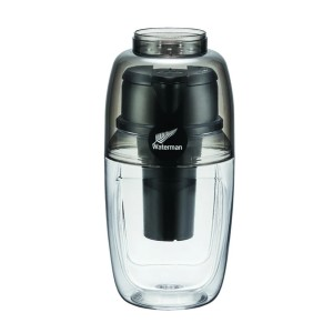 Waterman H2Go Portable filter and Alkalizer - Best Water Filtration Bottle for Travel: Turn Tap Water Anywhere Into Great Tasting