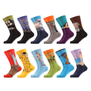 WeciBor Combed Cotton Crew Socks - Best Socks for Men: Made of Combed Cotton