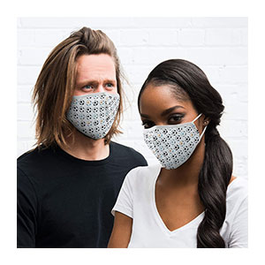 Weddingstar Washable Cloth Face Mask Reusable - Best Masks for Glasses Wearers: 5 Layers of Superior Protection