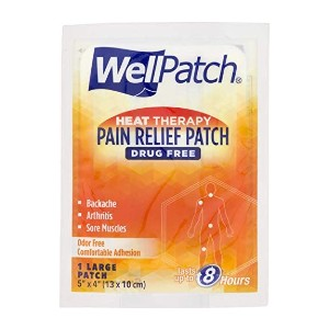 WellPatch Warming Pain Relief Pads - Best Patches for Back Pain: Provides Fast, Long-Lasting, Soothing Pain Relief
