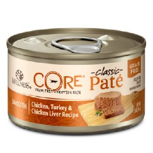 Wellness CORE Natural Grain Free Chicken Turkey & Chicken Liver Pate Canned Cat Food - Best Food for Cat to Gain Weight: Grain-Free Cat Food