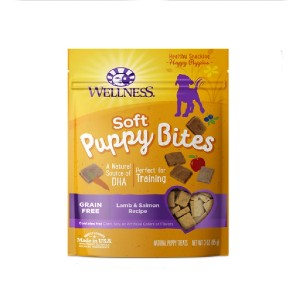 Wellness Soft Puppy Bites Lamb & Salmon Recipe Grain-Free Dog Treats - Best Biscuits for Dogs: Biscuit for Under 1 Year Dog