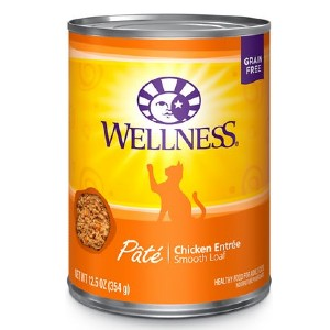 Wellness Complete Health Pate Chicken Entree Grain-Free Canned Cat Food - Best Food for Hyperthyroid Cat: High-Quality Protein