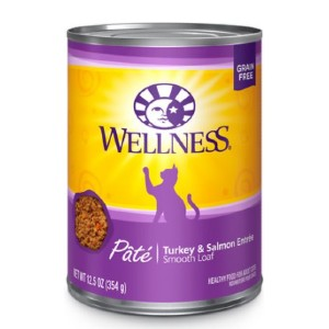 Wellness Complete Health Turkey & Salmon Formula Grain-Free Canned Cat Food - Best Food for Cats with Kidney Disease: Natural Ingredients