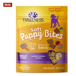 Wellness Soft Puppy Bites Grain-Free Lamb & Salmon Recipe Dog Treats - Best Dog Treats for Puppies: Formulated for Puppy Under One Year