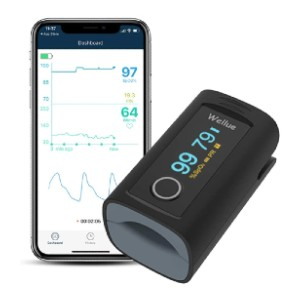 Wellue Fingertip Blood Oxygen Saturation Monitor  - Best Pulse Oximeter with Alarm: Receive data in real-time