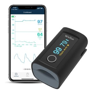 Wellue Fingertip Blood Oxygen Saturation Monitor - Best Pulse Oximeter with Bluetooth: Spot-monitoring