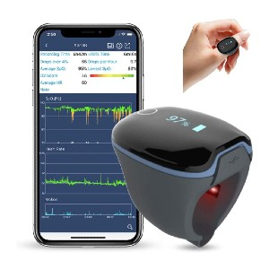 Wellue O2Ring Wearable Sleep Monitor - Best Pulse Oximeter with Bluetooth: Best ring-shaped oximeter