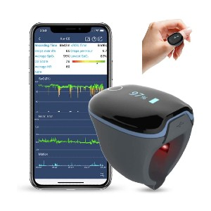 Wellue O2Ring Wearable Sleep Monitor - Best Pulse Oximeter for Overnight Monitoring: Best ring oximeter