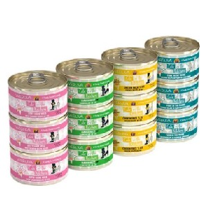 Weruva Cats in the Kitchen Cuties Variety Pack Grain-Free Canned Cat Food - Best Food for Cats with Kidney Disease: Low Budget Renal Health Food