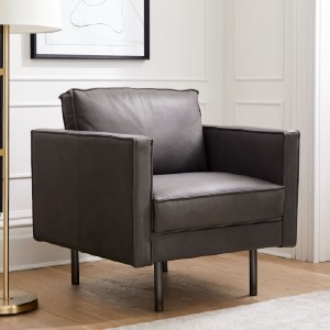 West Elm Axel Leather Armchair - Best Leather Armchair: Luxurious Modern Design