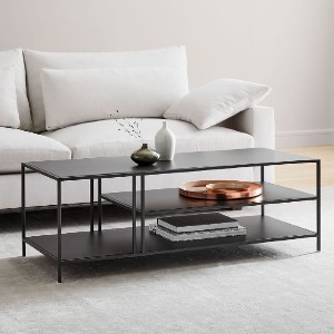 West Elm Profile Coffee Table - Best Coffee Table with Storage: Modern Look Coffee Table