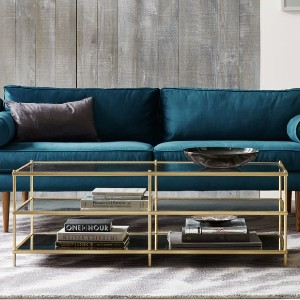 West Elm Terrace Coffee Table - Best Coffee Table with Storage: Mirrored Glass Base