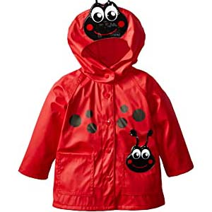 Western Chief Kids Soft Lined Character Rain Jackets - Best Raincoats for Toddlers: Pop ladybugs design