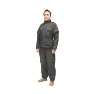 Wetskins 2-Piece Motorcycle Rainsuit - Best Raincoat for Motorcycle Riders: Full Fastening Tape Storm Flap Over Front Zipper